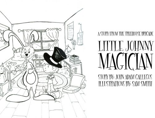 So, I'm kind of writing a children's book and here's the first look at Little Johnny Magician.